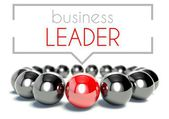 Business leader unique concept illustration — Stock Photo