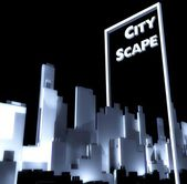 City scape concept 3d Urban development — Stock Photo