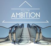 Follow ambition concept with stairs to success — Stock Photo