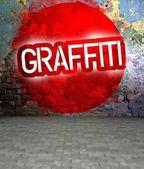 Graffiti ściany miejskich sztuki ulicy — Zdjęcie stockowe