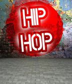 Graffiti wall with Hip Hop, urban art — Photo