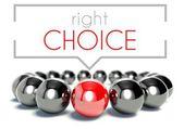 Right choice, business unique concept — Stock Photo