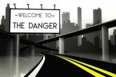 Welcome to the danger in conceptual big city — Stock Photo