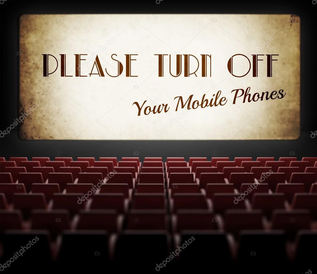 sil vous pla t teindre cran de cin ma de t l phones cellulaires dans lancien cin ma. Black Bedroom Furniture Sets. Home Design Ideas