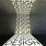 Design on wall, modern interior — Stock Photo