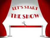 Lets start the show, ribbon and scissors — Stok fotoğraf