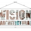 Stock Photo: Vision architectural illustration in house blueprint