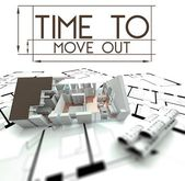 Time to move out with project of house — Stockfoto
