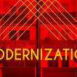 Modernization, Architecture design modern poster — Stock Photo