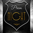 Stock Photo: Prom night sign on black leather