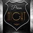 Prom night sign on black leather — Stock Photo