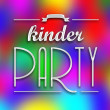 Stock Photo: Kinder party invitation poster, colorful backround