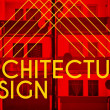 Stock Photo: Architecture design, modern poster with house