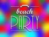 Beach party invitation poster, colorful backround — Stock Photo