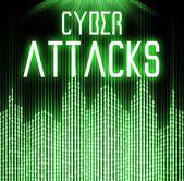 Cyber attacks with matrix binary code technology — Photo