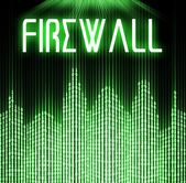 Firewall with cyber binary code technology — Stockfoto