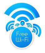 Free wifi icon, isolated white — Stock Photo