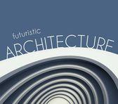 Futuristic architecture poster with modern building — Stockfoto