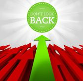 Individuality concept. Dont look back — Stockfoto