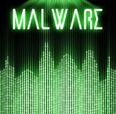 Malware with cyber binary code technology — Stock Photo