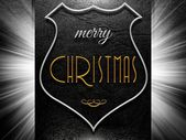 Merry christmas sign on leather background — Стоковое фото