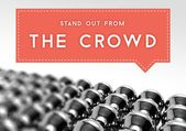 Stand out from the crowd business individuality — ストック写真