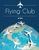 Flying club concept, airplanes on earth — Stock Photo