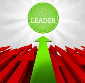 Individuality concept, Be a leader — Stock Photo