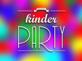Kinder party invitation poster, colorful backround — Stock Photo