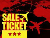 Sale ticket travel concept, airlines in the world — Stock Photo