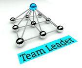 Team leader concept, Hierarchy with pyramid — ストック写真