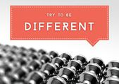 Try to be different business individuality concept — ストック写真