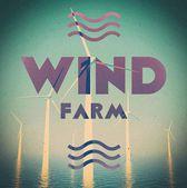 Wind farm grunge vintage poster — Stock Photo