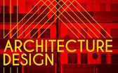 Architecture design, modern poster with house — Stock Photo