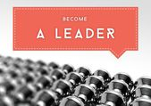 Become a leader, business individuality concept — Stock Photo