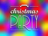Christmas party invitation poster, colorful backround — Stock Photo