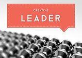 Creative leader business individuality conception — ストック写真