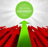 Individuality concept. Try to be different — Stockfoto