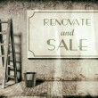 Stock Photo: Renovate and sale, real estate business concept