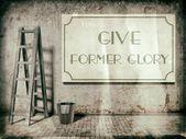 Dar gloria en la pared del edificio viejo — Foto de Stock