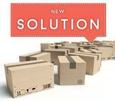 Transportoplossing met kartonnen dozen — Stockfoto