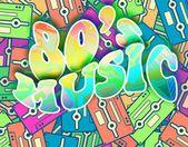 80s music retro concept, Vintage poster design — Stock Photo