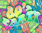 80s party retro concept, Vintage poster design — Stock Photo
