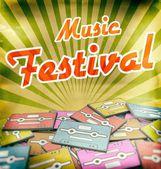 Music festival vintage poster design Retro — Stock Photo