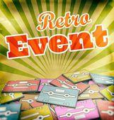 Retro event vintage poster design Concept on old cassettes — Stock Photo