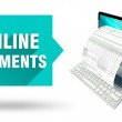 ������, ������: Online payments computer with online tax form or invoice