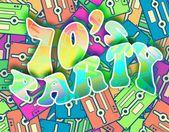 70s party retro concept, Vintage poster design — Stock Photo