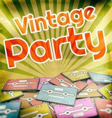 Vintage party poster design Retro — Stock Photo