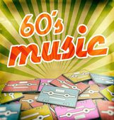 60s music vintage poster design. Retro concept — Stock Photo
