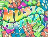 фестиваль ретро концепцию музыки. ретро постер дизайн — Стоковое фото